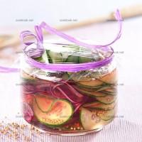 photo recette Concombres et oignons sucrés en marinade