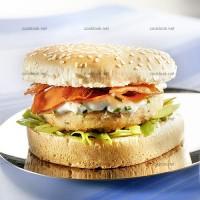 photo recette Steack de saumon en hamburger