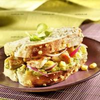 photo recette Sandwich poulet avocat à la mexicaine