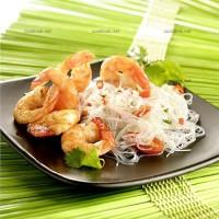 photo recette Vermicelles de soja aux crevettes