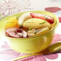 photo recette Salade de fruits parfumée à la menthe