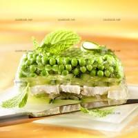 photo recette Terrine de poulet et légumes verts
