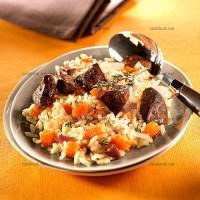 photo recette Risotto au potiron et foies de volaille
