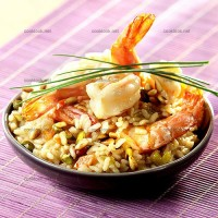 photo recette Risotto gambas et fruits secs