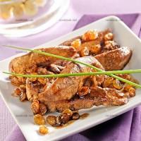 photo recette Aiguillettes de canard aux raisins secs