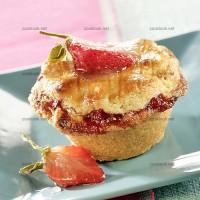 photo recette Petits gâteaux à la confiture de fraises