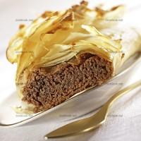 photo recette Feuilleté au chocolat façon strudel
