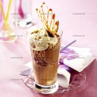 photo recette Chocolat glacé et noix caramélisées