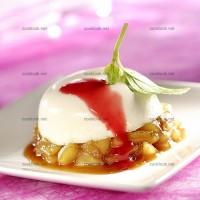 photo recette Panna cotta sur lit de pommes caramélisées