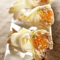 photo recette Cornets croustillants aux saumons