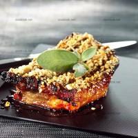 photo recette Travers de porc en croûte de fruits secs