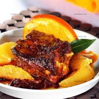 photo recette Travers de porc à l'orange