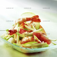 photo recette Salade multicolore aux crevettes