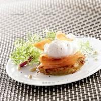 photo recette Crique de pommes de terre au saumon fumé