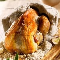 photo recette Pintade rôtie en coque de sel