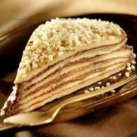 photo recette Millefeuille de crêpes au chocolat et amandes