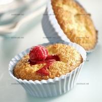 photo recette Mini gâteaux coco framboises