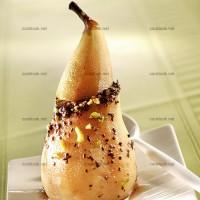 photo recette Poires farcies au chocolat et pistaches