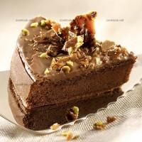 photo recette Gâteau au chocolat et pistaches caramélisées
