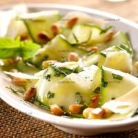 photo recette Courgettes croquantes marinées au jus de citron