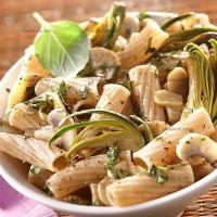 photo recette Tortiglioni aux artichauts violets et aux champignons