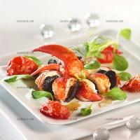 photo recette Ronde de homard et truffes aux tomates confites