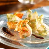 photo recette Fricassée de crabe royal et endives confites au gingembre