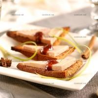 photo recette Pain d'épices et son foie gras au confit de figues
