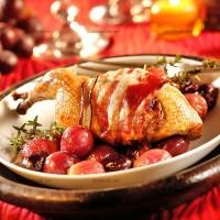 photo recette Cailles aux raisins