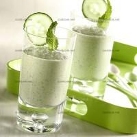 photo recette Cocktail avocat, concombre et menthe