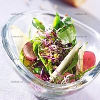 photo recette Salade fruitée aux graines germées