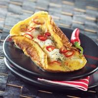 photo recette Omelette pimentée au cabillaud