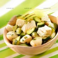 photo recette Poêlée de cabillaud aux courgettes citronnées