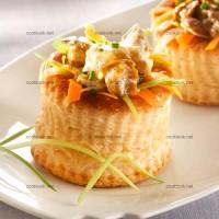 photo recette Feuilleté de bulots aux petits légumes