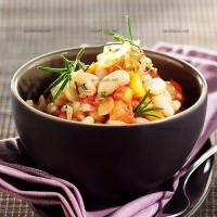 photo recette Salade de haricots blancs à la tomate