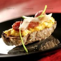 photo recette Omelette en toasts