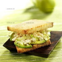 photo recette Sandwich crabe, avocat, pomme