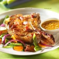 photo recette Côtes de veau à la citronnelle et sauce curry