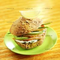 photo recette Sandwich haddock, crème, pomme et ciboulette