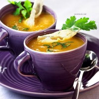 photo recette Soupe de courge parfumée au gingembre