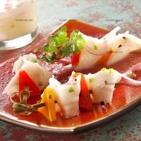 photo recette Carrelet mariné sur brochettes