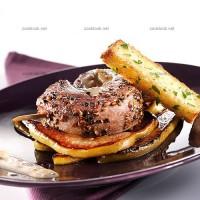 photo recette Magret de canard marinés et poires caramélisées