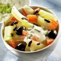photo recette Fenouils et olives noires en salade