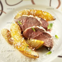 photo recette Magret de canard, mangue, coco et gingembre