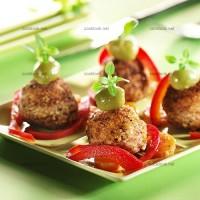 photo recette Bouchées de porc et légumes tricolores