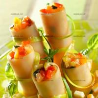 photo recette Fagots de cannellonis aux légumes