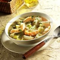 photo recette Soupe de fenouils et crevettes