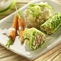 photo recette Chou farci au tofu, quinoa et carottes