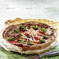 photo recette Tarte au brocoli et au poivron rouge